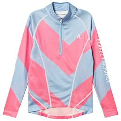 Perfect Moment Pink and Blue Chevron Super Thermal Top
