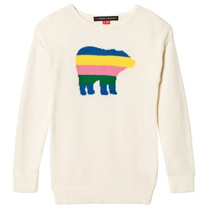 Image of Perfect Moment White and Rainbow Crew Bear Sweater 12 years (3125303055)