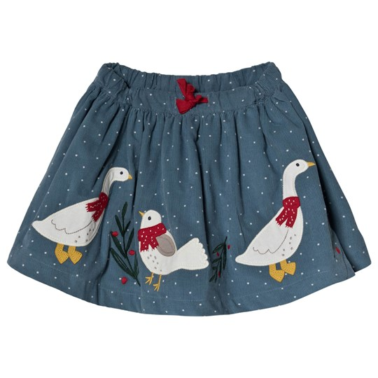 Frugi Blue Ducks Skirt Stone Blue Snowy Spot/Duck_AW18