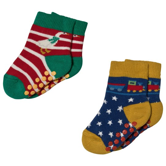 Frugi. 2-Pack Goose/Train Little Socks