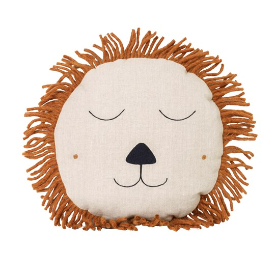 ferm LIVING Safari Cushion Lion Natural Beige/Natural