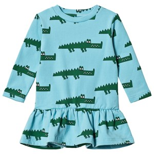Image of Hugo Loves Tiki Crocodile Sweatshirt Dress Blue 1 år (3125271983)