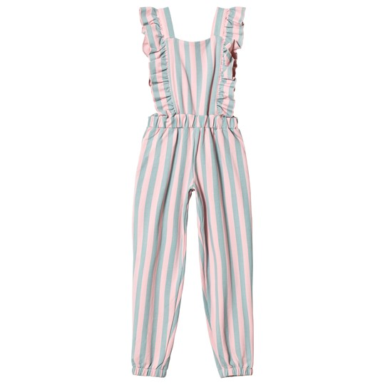 Hugo Loves Tiki Ruffled Jumpsuit Cotton Candy Stripe Cotton Candy Stripe