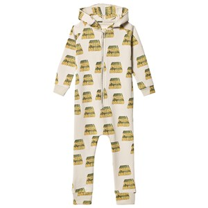 Image of Hugo Loves Tiki Pizza Squad Onesie Light Green 12-18 mdr (3125247267)