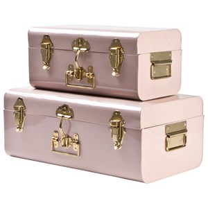 Image of JOX 2-Piece Metal Trunk Set Dusty Pink One Size (1149443)