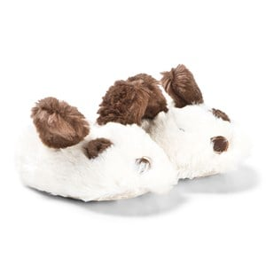 Image of Tom Joule Cream & Brown Puppy Baby Slippers 0-6 months (3125312871)