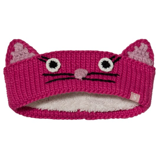 Tom Joule Hilda Cat Face Stickat Hårband Rosa TRUE PINK