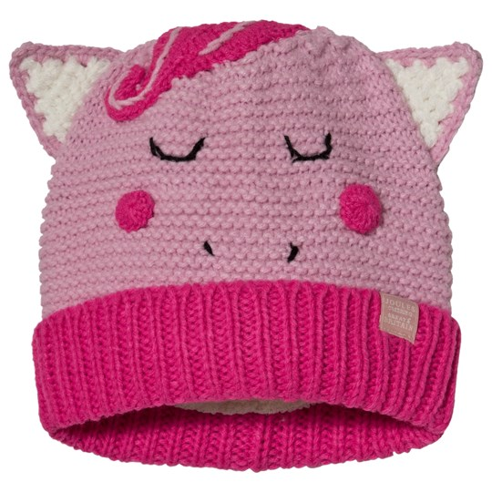 Tom Joule Pink Chummy Unicorn Knitted Beanie Horse