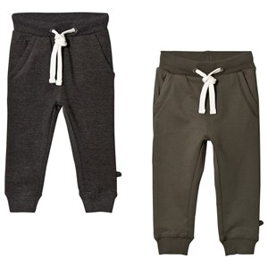 Image of Minymo 2-Pack Basic Sweatpants Beetle 104 cm (3-4 år) (3139759983)