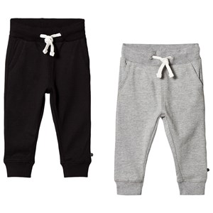 Image of Minymo 2-Pack Basic Sweatpants Anthracite Black 104 cm (3-4 år) (3139759959)