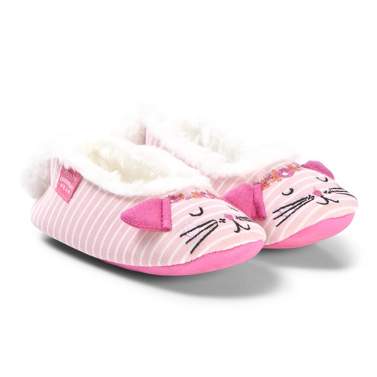 Tom Joule Pink Dreamer Kitten Slippers Cat