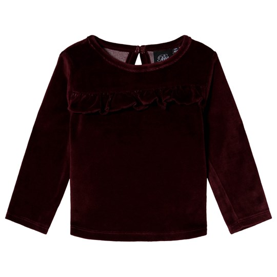 Petit by Sofie Schnoor Velour Blus Mörkröd Dark red
