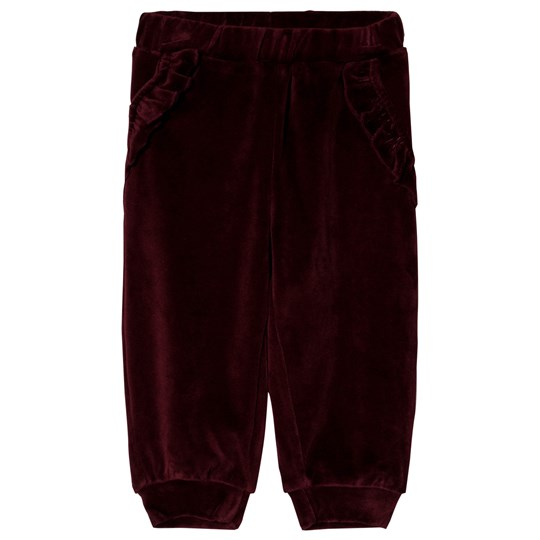 Petit by Sofie Schnoor Velour Byxor Röd Dark red