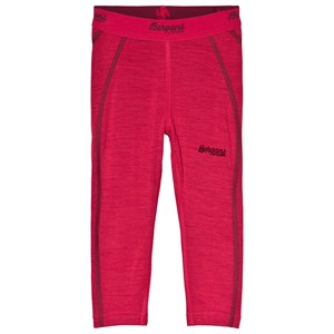 Image of Bergans Red Merino Wool Akeleie Kids Baselayer Tights 104 cm (3-4 år) (3056110401)