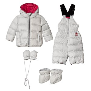 Image of Colmar Silver with Pink Lining Padded Down Set 9 months (1096288)