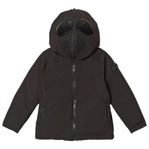 Image of AI Riders on the Storm Black Reversible Down Goggle Hood Jacket 12 years (3125271663)