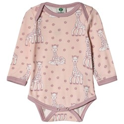 Småfolk Sophie the Giraffe Baby Body Pink