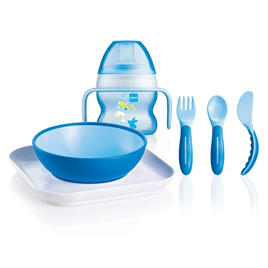 MAM Baby Feeding Set Blue Blue