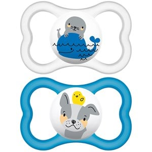 Image of MAM Air Latex Pacifier Blue 6m+ (3125311609)