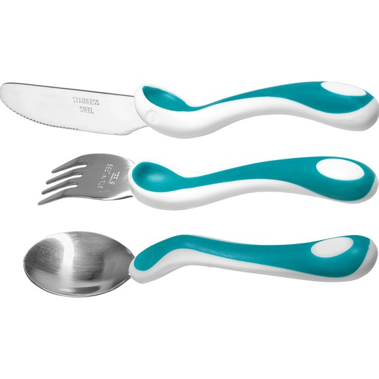 BAMBINO Eat Like a Pro Cutlery Set Turquoise Turquoise