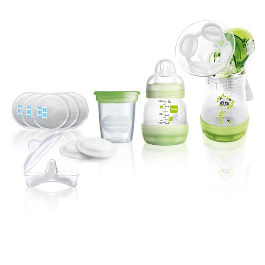 MAM Breastfeeding Starter Set Green