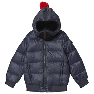 Image of AI Riders on the Storm Navy Convertible Down Bomber Jacket with Goggle Hood 14 years (3125271675)