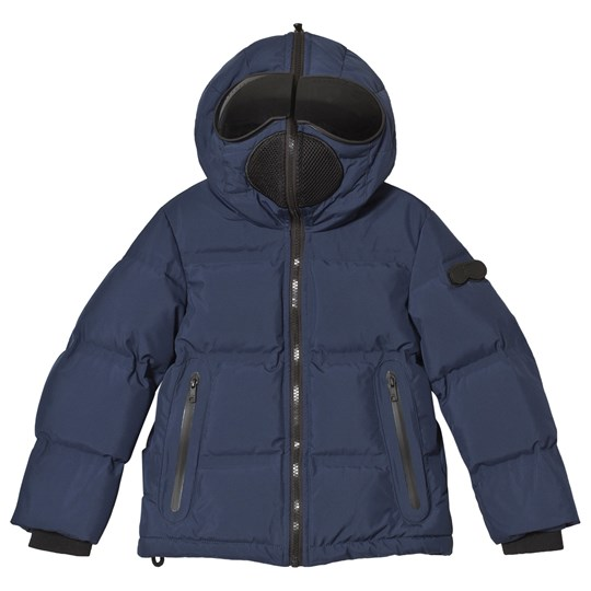 AI Riders on the Storm Navy Down Goggle Hooded Jacket 205