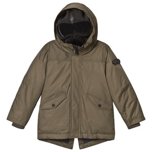 Image of AI Riders on the Storm Olive Down Parka with Detachable Goggle Hood 4 years (3125271683)