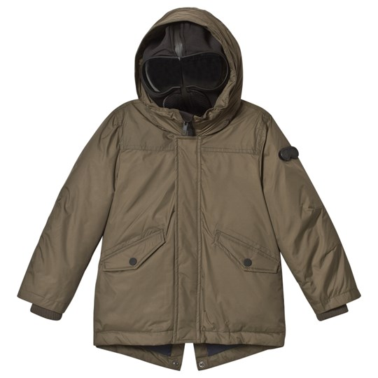 AI Riders on the Storm Olive Down Parka with Detachable Goggle Hood 341