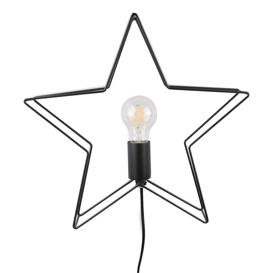 FORM Living Christmas Star Shine Light Black