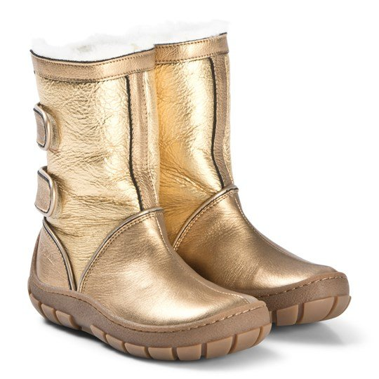 Pom Dapi Piwi Chabraque Boots Gold Gold/Off White