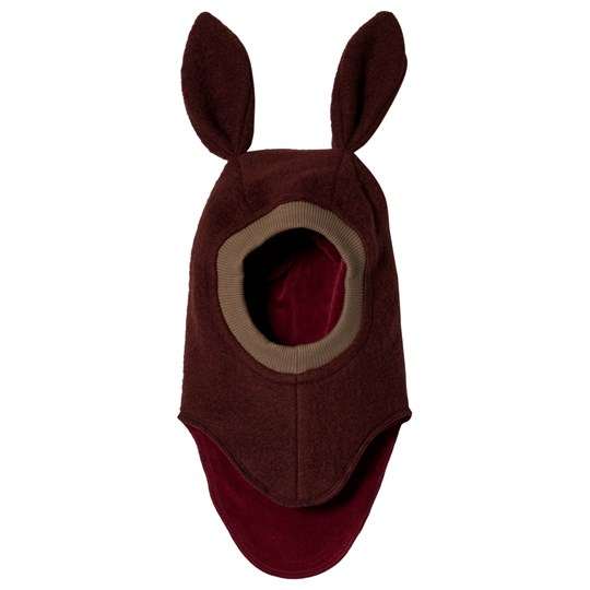 Huttelihut Elefanthut Wool Balaclava With Bunny Ears Wine Limited Edition