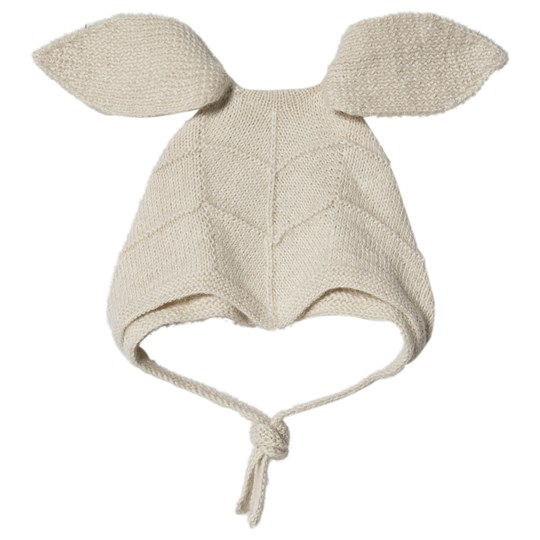 Huttelihut Rabbit Hut Balaclava with Long Ears Off White Limited Edition