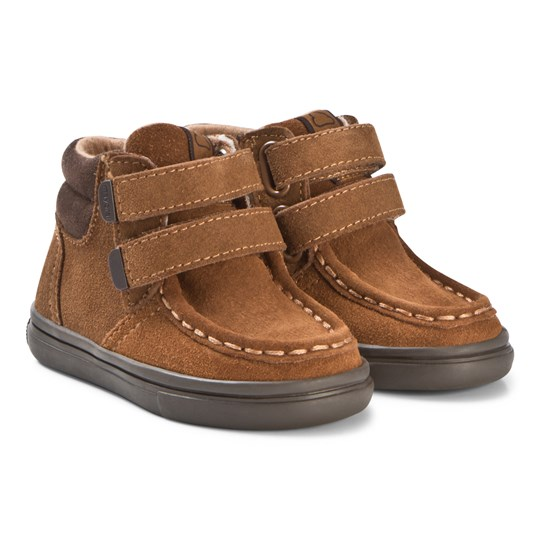 Mayoral Tan Velcro Leather Hi Tops 78