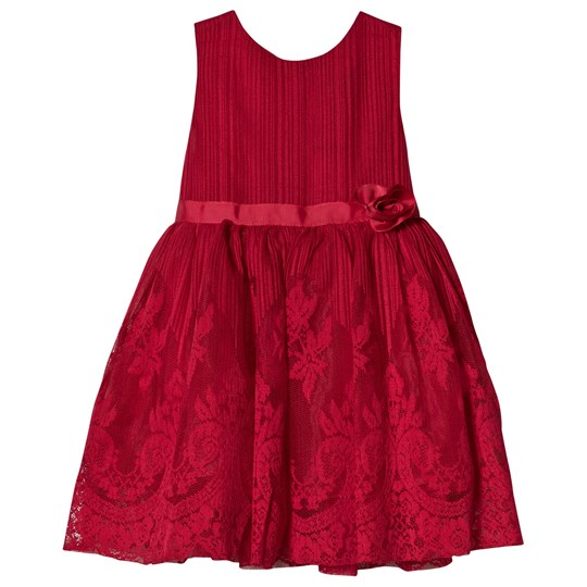 Jocko Burgundy Sleeveless Lace Baby Dress Burgundy