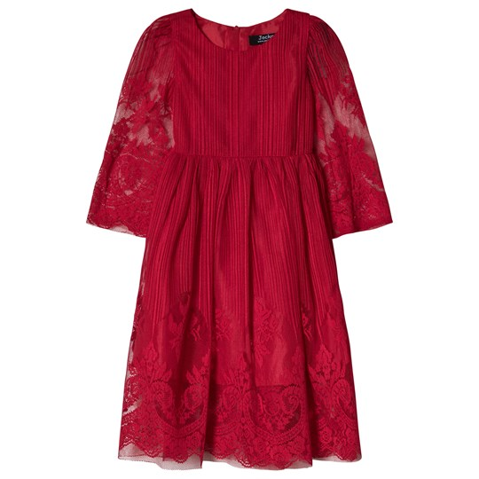 Jocko Burgundy Lace Dress Burgundy