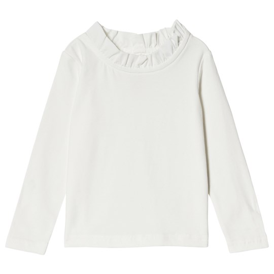 Jocko Off White T-Shirt With Lace Collar 白色