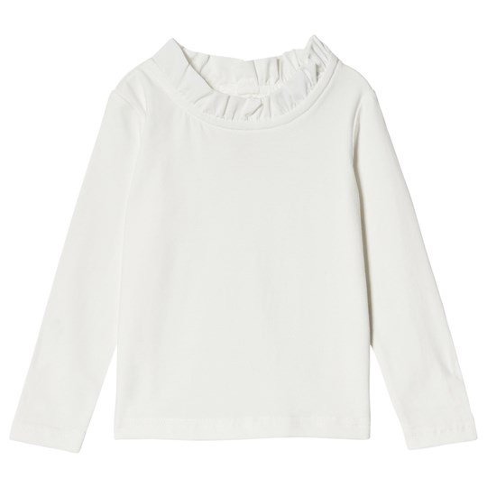 Jocko Off White T-Shirt With Lace Collar off-white