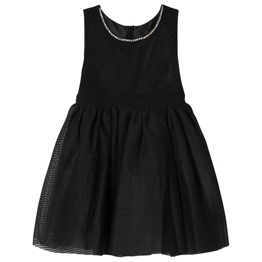 Jocko Black Partydress With Diamond Neck Black