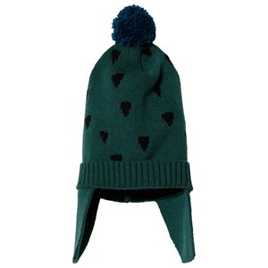 Image of nadadelazos Dents Beanie Baobab Green/Wax Print Blue S (3125288401)