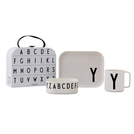 Design Letters Tritan Tableware Set - Y White