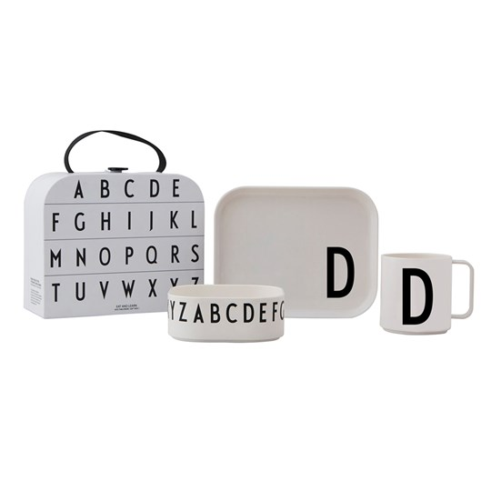 Design Letters Tritan Tableware Set - D White