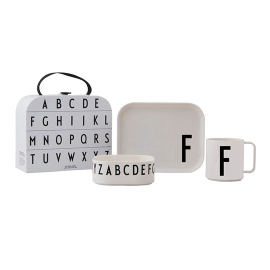 Design Letters Tritan Tableware Set - F White
