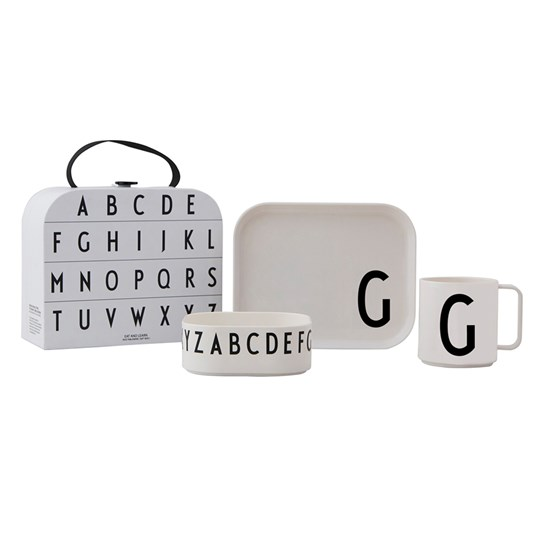 Design Letters Tritan Tableware Set - G White