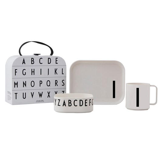 Design Letters Tritan Tableware Set - I White