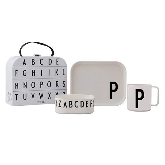 Design Letters Tritan Tableware Set - P White