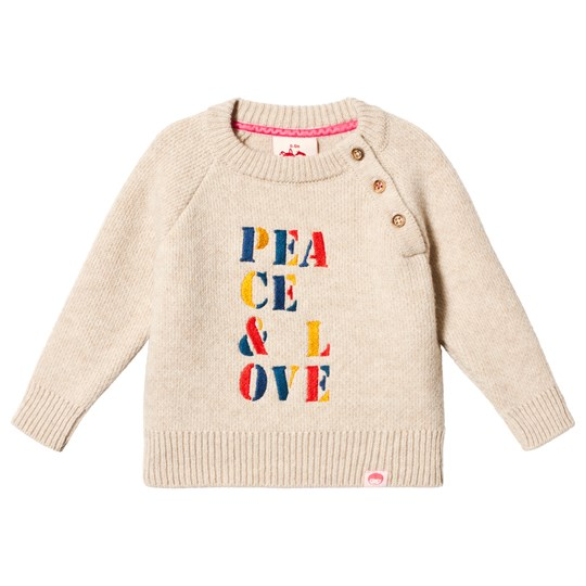 Tootsa MacGinty Yujo Peace and Love Sweater Off White Cream