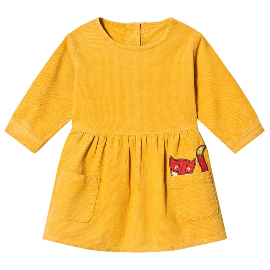 Tootsa MacGinty Yellow Corduroy Smock Dress Yellow