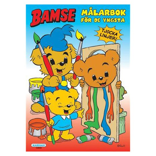 Egmont Kärnan Bamse Coloring Book for Toddlers White