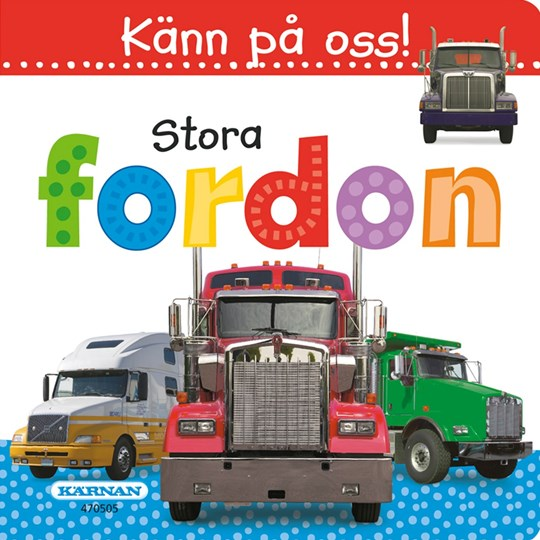 Egmont Kärnan Touch Us! Big Vehicles Book (SWE) Red